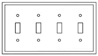 PJ4W - 4G Mid Wall Plate - Cooper Wiring Devices