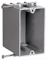 S122R - 1G Wall Box - Nail On - Pass & Seymour/Legrand