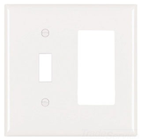 TP126W - 2G 1TOG Decor Plate White - Pass & Seymour/Legrand