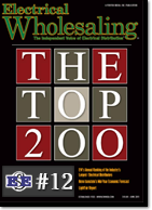 EES moves up to the top 12th ranked distributor in the nation, according to Electrical Wholesaling